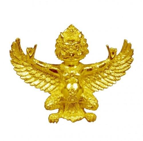 Golden Garuda Amulet in Tibetan style by Pra Ajarn Daeng Opaso