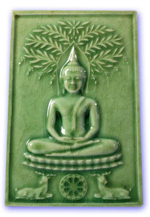 Pra Somdej Niramit Choke - Sacred Powders with Green Ceramic Glaze