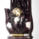 Pra Yulai on the Buddha's hand - Arahant Subduing Maras Bucha Image