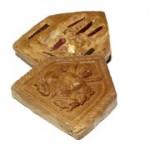 Khun Phaen Nuea Horm Yang Naree Marum Pha Aathan - Prai Deva Tree Amulet 5 Takrut, Holy Wood & Bone Carving - Luang Phu Ya Kroo Noi Akkajidto - Wat Po Chai 2555 BE