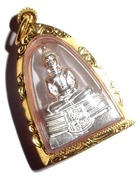Luang Por Sotorn Buddha Amulet with solid gold casing