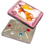 Nang Jing Jork Gao Hang Maha Sanaeh - 9 Tails Fox Demoness Enchantress Prai Deva Locket - Pim A Ongk Kroo - 6 Gems 9 Silver Takrut + In Koo