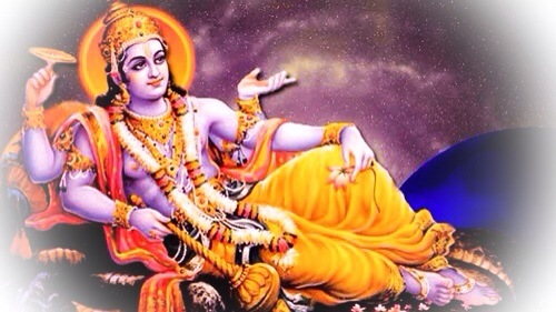 Pra Narai (Vishnu) on the bed of snakes in the Cosmic Ocean