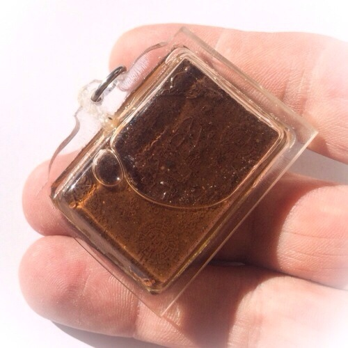 rear face of the amulet
