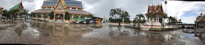 Panorama view of the temple of Wat Juk Gacher