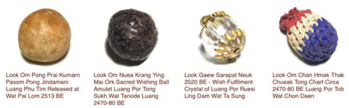 Look Om Wishing Ball Amulets in Ancient Amulet Store
