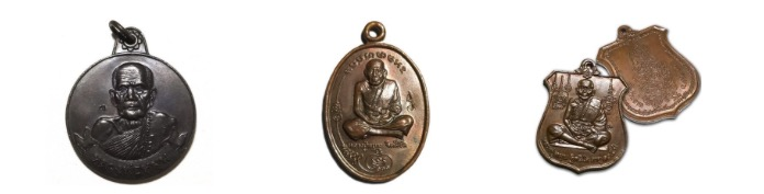 Famous Luang Phu Moon Coin Amulets